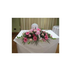 All Pink Top Table Arrangement