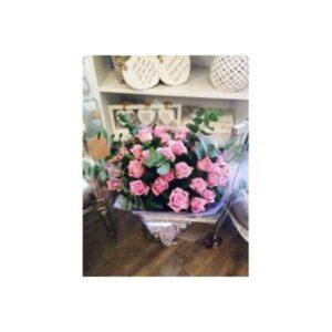 12 Aqua Pink Roses