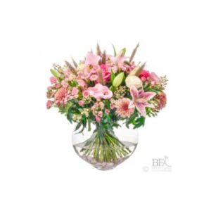 Pink Opulence With Vase